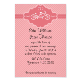 Bicycle Built for Two Wedding Invitation