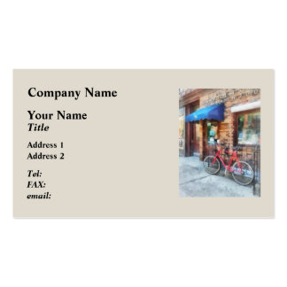 Bicycle By Post Office Double-Sided Standard Business Cards (Pack Of 100)