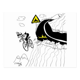 Bicycle Cartoon 9334 Postcard