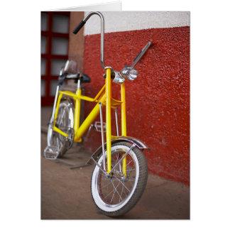 Bicycle Cycle Bicycling Cycling Banana Cruiser 2 Note Card