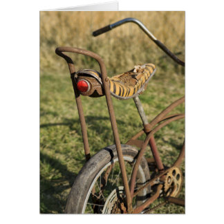 Bicycle Cycle Bicycling Cycling Banana Cruiser Card