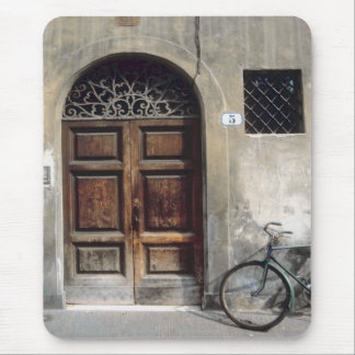 Bicycle Cycle Bicycling Cycling Italy Building Mouse Pad