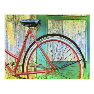 Bicycle Cycle Bicycling Cycling Old Shed Post Card