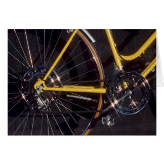 Bicycle Cycle Bicycling Cycling Yellow Bike Frame Card