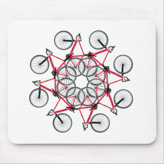 Bicycle cycle mouse pad