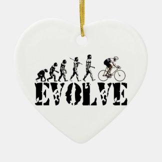 Bicycle Cycling Bike Riding Evolution Sports Art Ceramic Ornament