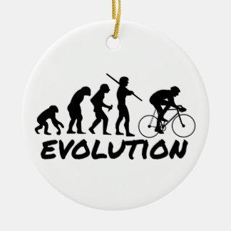 Bicycle Evolution Round Ceramic Decoration