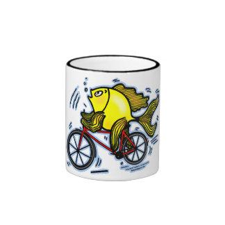 Bicycle Fish Bike Mugs