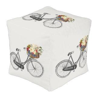 bicycle flower bike cute decor pouf