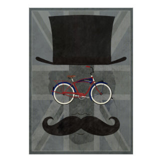 Bicycle Head Poster