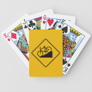 Bicycle Hill, Traffic Warning Sign, USA Bicycle Playing Cards