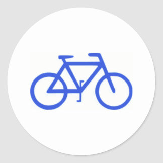 Bicycle Icon Round Sticker