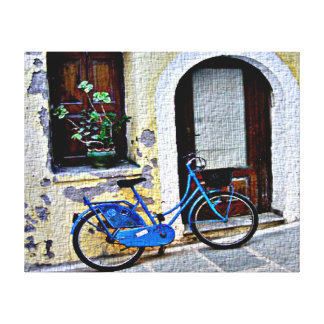 Bicycle In Crete Canvas Print