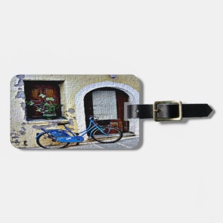 Bicycle In Crete Luggage Tag