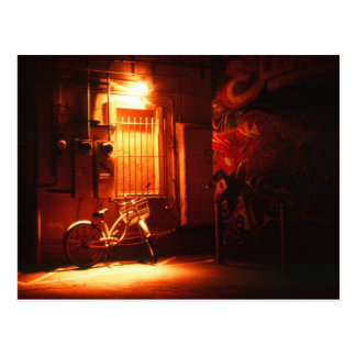 Bicycle in Dark Alley Postcard