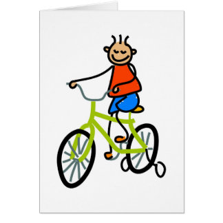 Bicycle Kid Card