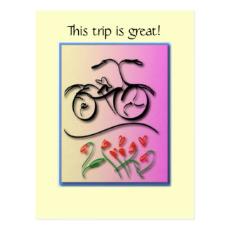 Bicycle Love Postcard