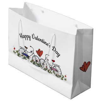 Bicycle Lovers Valentine Large Gift Bag