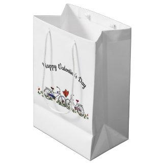 Bicycle Lovers Valentine Medium Gift Bag