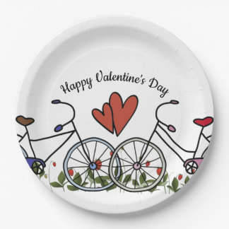Bicycle Lovers Valentine Paper Plate