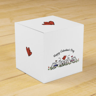 Bicycle Lovers Valentine Square Favour Box