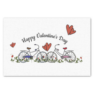 Bicycle Lovers Valentine Tissue Paper