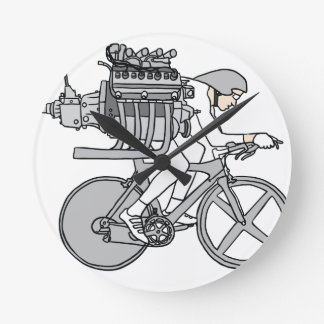Bicycle Motoring Round Clock