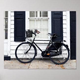 Bicycle on Meeting St, Charleston, South Carolina Poster