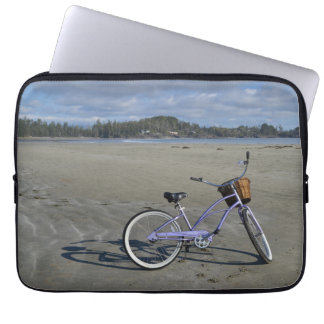 Bicycle on the Beach Laptop Sleeves