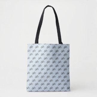 Bicycle Pattern Tote Bag