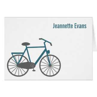Bicycle Personalized Note Cards