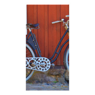 bicycle customized photo card