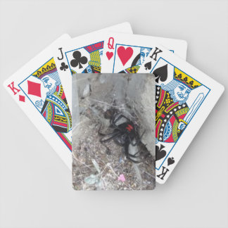 Bicycle Playing Cards with Black Widow Image
