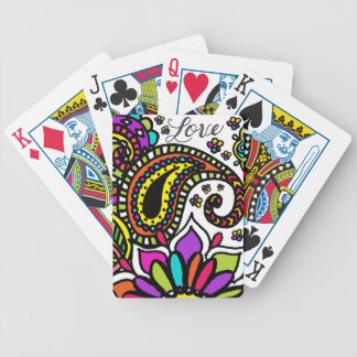 Bicycle Poker Cards Love Bold Paisley Kids Art