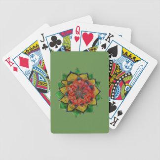 Bicycle® Poker Playing Cards Green Mandala