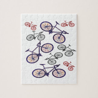Bicycle Print Design Jigsaw Puzzles