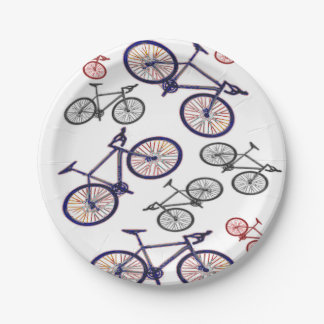 Bicycle Print Design Paper Plate