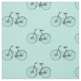 Bicycle Print Fabric