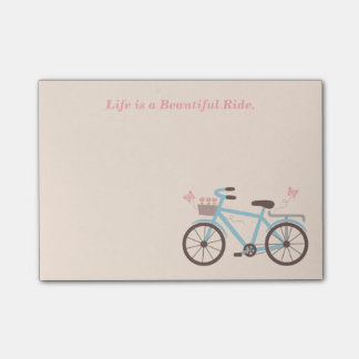 Bicycle Quote Life is A Beautiful Ride Post-it Notes