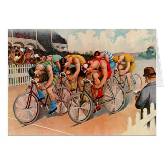 Bicycle Race 1895 Card
