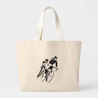 Bicycle Racers into the Turn Large Tote Bag