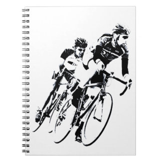 Bicycle Racers into the Turn Notebook