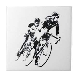 Bicycle Racers into the Turn Tile