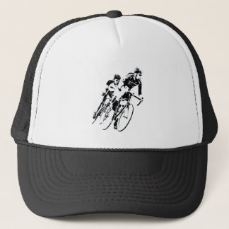 Bicycle Racers into the Turn Trucker Hat