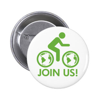 Bicycle Recycle Green Join Pin