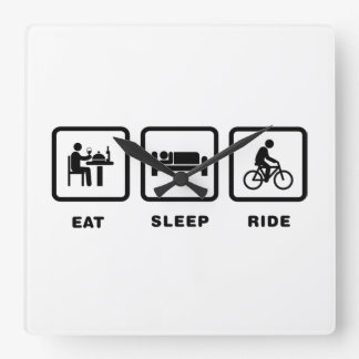 Bicycle Rider Square Wall Clock