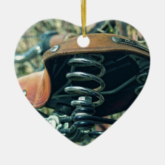 Bicycle Saddle Ceramic Ornament