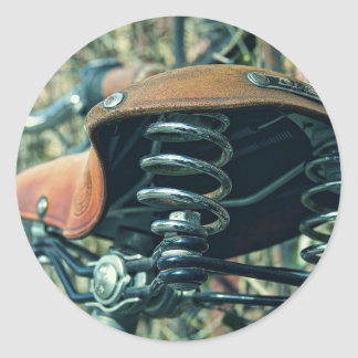 Bicycle Saddle Classic Round Sticker