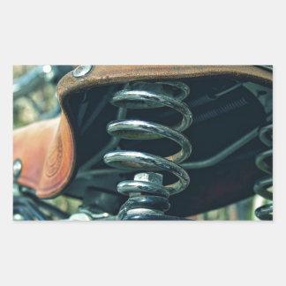 Bicycle Saddle Rectangular Sticker