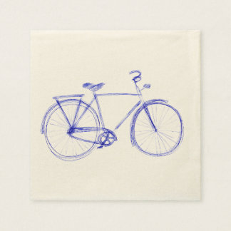 Bicycle scribble disposable napkins